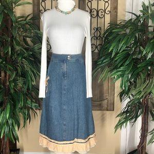 J.Jill | vintage Women's high waisted jean skirt